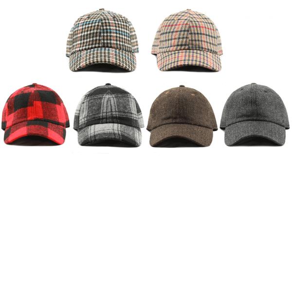 Wool poly blend baseball cap